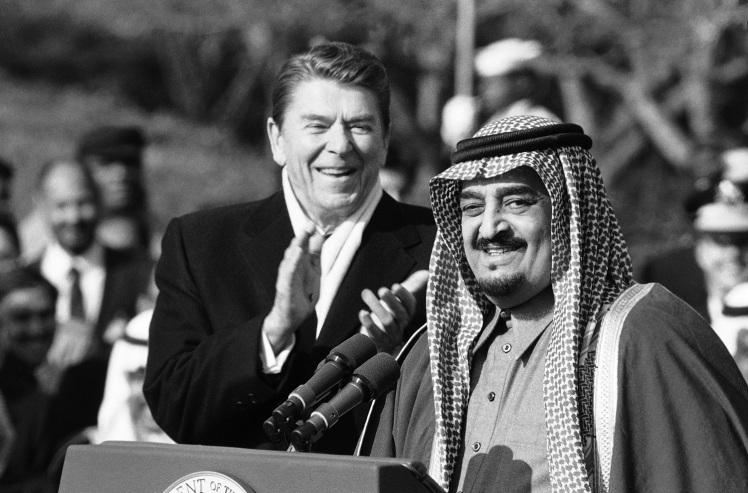 Ronald Reagan, King Fahd