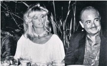 Hollywood Star Farrah Fawcett and friend of Dads and Khashoggi - together