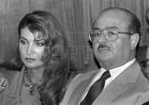 Adnan Khashoggi and one of his wives Lamia, who I met both of them in Boston with my Dad in 1991.