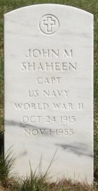 John Shaheen's tombstone at Arlington National Cemetary in Washington, DC