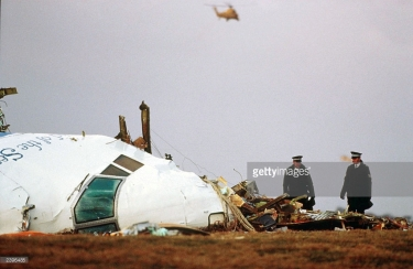 The Nose of the Doomed Pan Am Flight 103 in Lockerbie, Scotland