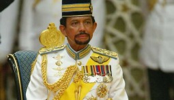 The Sultan of Brunei, of whom my Dad met, with Khashoggi, in Brunei